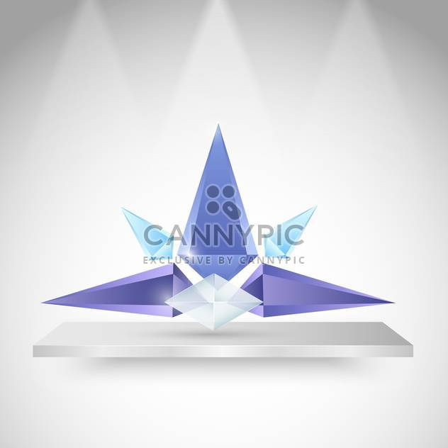 Vector illustration of modern colorful geometric crystal design - Free vector #125751