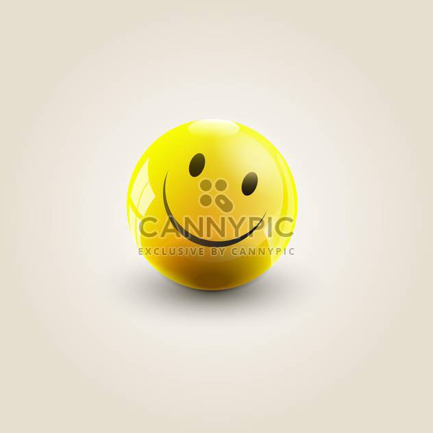 Vector illustration of round yellow smile on white background - Free vector #125771