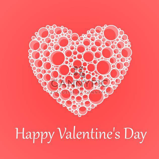 Vector card for Valentine's Day with heart made of bubbles - Free vector #125881