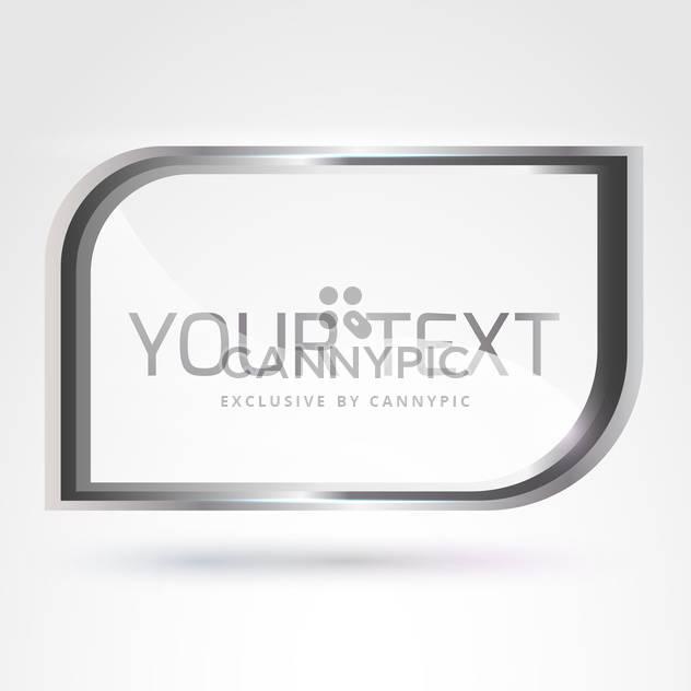 Vektor Silber Frame mit Text auf weißem Hintergrund - Kostenloses vector #125911