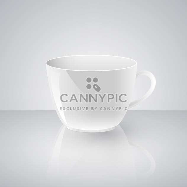 Vector illustration of empty coffee cup on white background - Free vector #125941