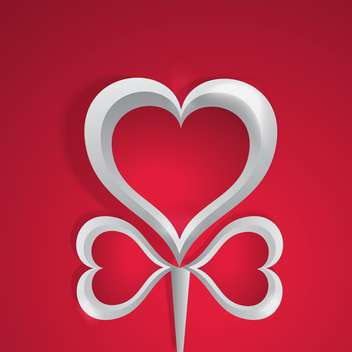 Vector background with white hearts on red background for valentine card - vector #126021 gratis