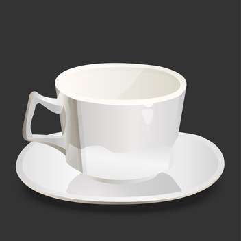 Vector illustration of empty white cup on black background - Free vector #126051