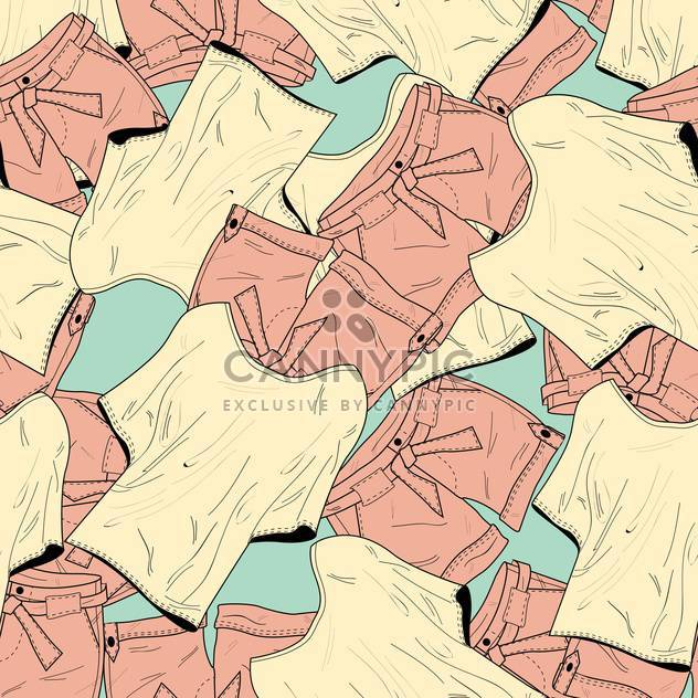 Vector background with colorful fashion shorts and t-shirts - Free vector #126071