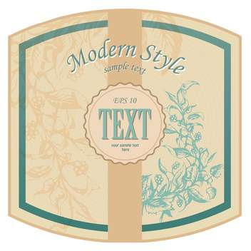 Vector vintage floral brown background with text place - vector #126211 gratis