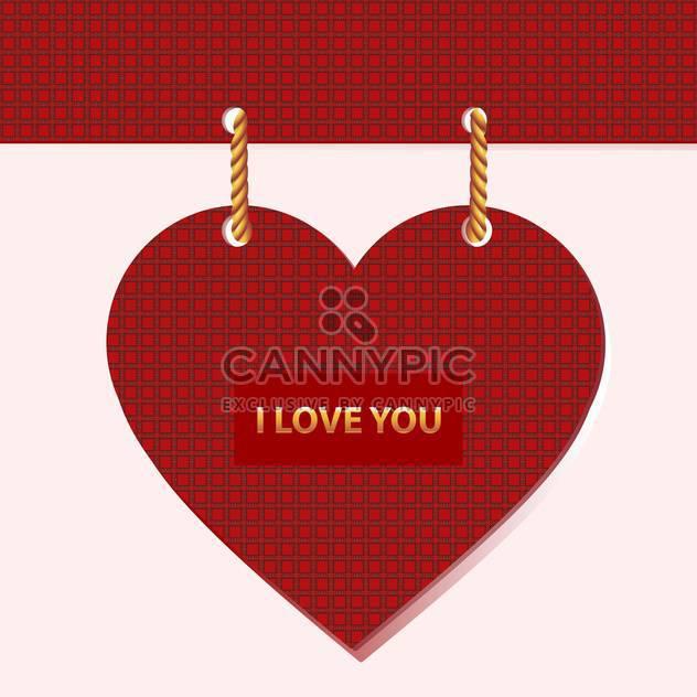 Vektor-Valentinskarte mit roten Herzen und text - Kostenloses vector #126381