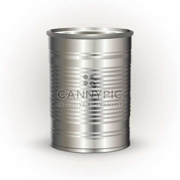 Vector illustration of metal tin can on white background - Free vector #126401