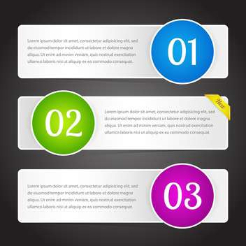 vector illustration of banners with colorful numbers and text place - Kostenloses vector #126411