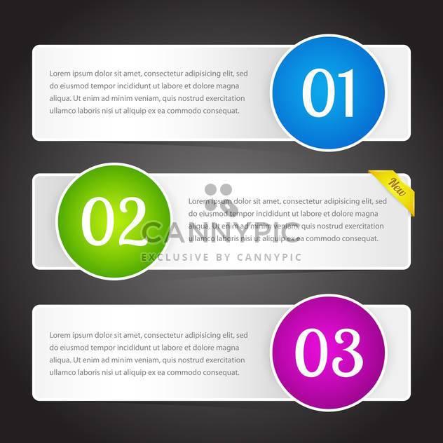 Vektor-Illustration von Bannern mit bunten Zahlen und Text-Platz - Free vector #126411