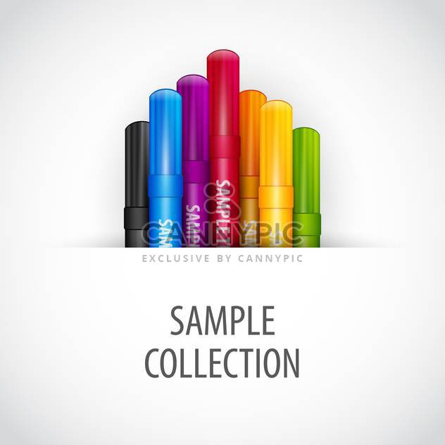 Vektor-Illustration von bunten Markierstifte auf weißem Hintergrund - Kostenloses vector #126631