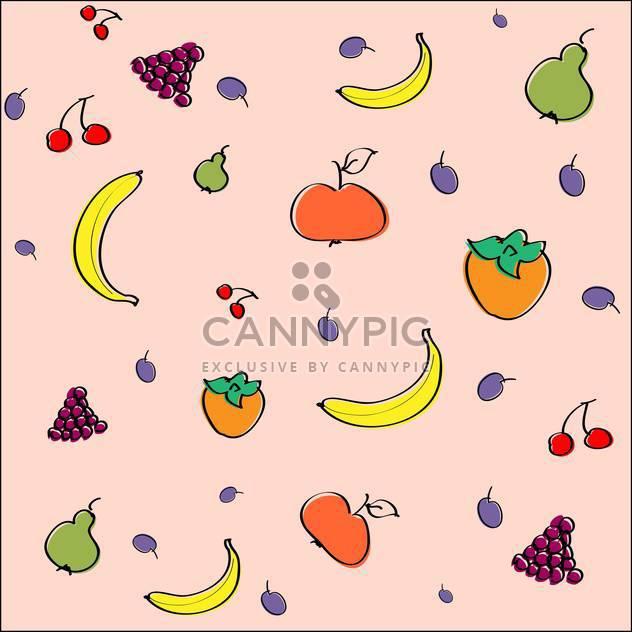 Vektor rosa Hintergrund mit saftigen Früchten - Free vector #126641