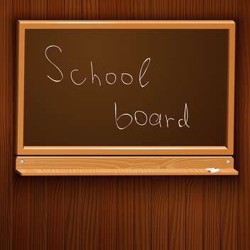 Vector illustration of brown school blackboard with chalk - Free vector #126661