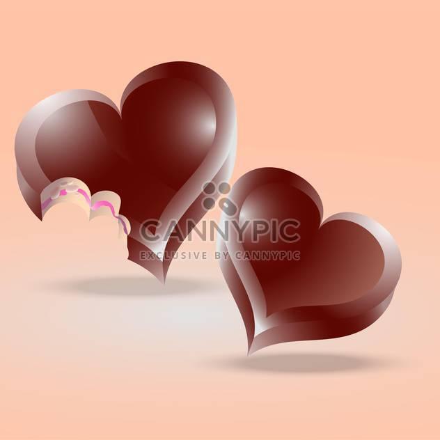 herzförmige Schokoladenkuchen auf rosa Hintergrund - Free vector #126731