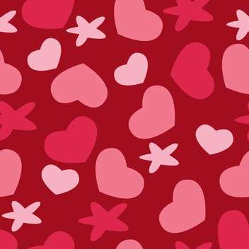 Valentine's day greeting card background with hearts - Free vector #126771