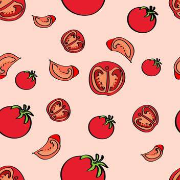 Vector colorful background with red ripe tomatoes - vector gratuit(e) #126871