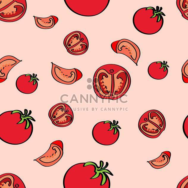 Vector colorful background with red ripe tomatoes - Free vector #126871