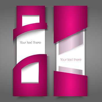 Vector pink banners with text place - vector gratuit #126901