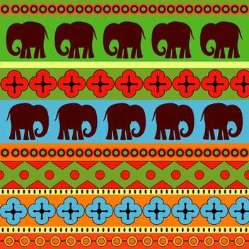 Vector background with colorful wild elephants - бесплатный vector #127021