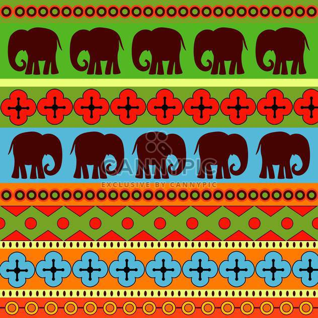 Vector background with colorful wild elephants - Free vector #127021