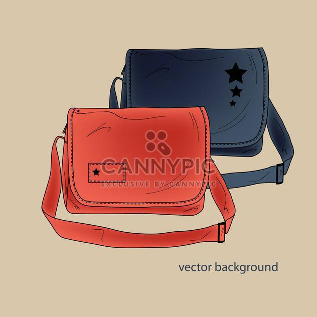 Vector background of female colorful bags - Free vector #127041
