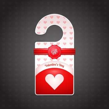 Valentine day door hanger on dark background - vector #127051 gratis