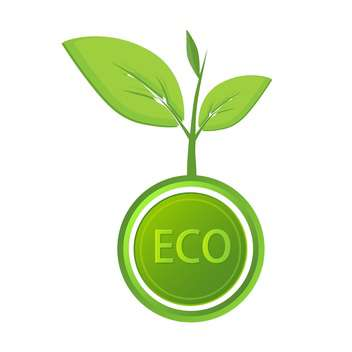 Vector eco icon label on white background - vector gratuit #127071