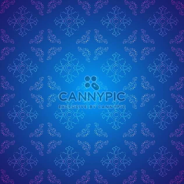 Vector vintage background with floral pattern - Free vector #127111