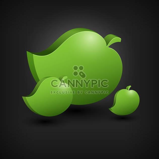 Vektor abstrakt grüne Blätter auf schwarzem Hintergrund - Free vector #127161