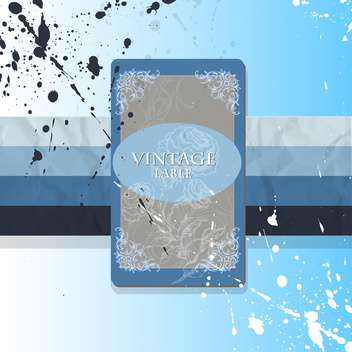 Vintage art background with label for text place - vector #127171 gratis