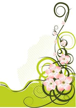 Spring background with spring flowers and text place - vector #127191 gratis