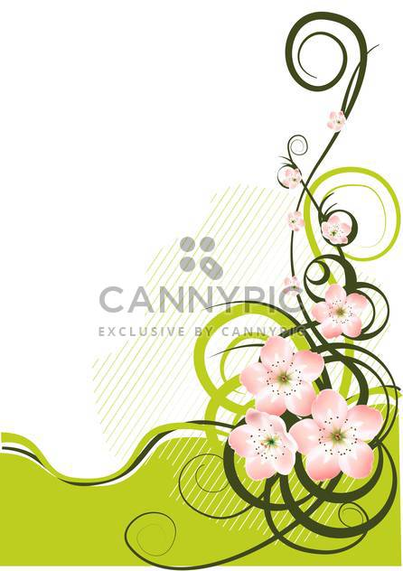 Spring background with spring flowers and text place - Free vector #127191