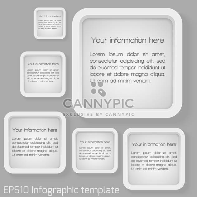 vector set of web badges with text place - Free vector #127231