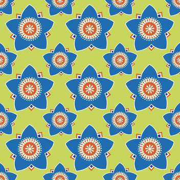 Seamless colorful flower pattern art background - vector #127321 gratis