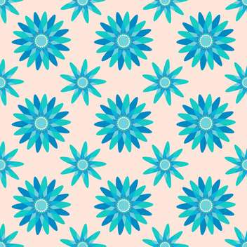 Seamless blue color floral pattern background - vector gratuit #127411