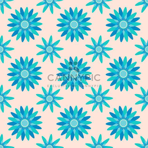 Seamless blue color floral pattern background - Free vector #127411