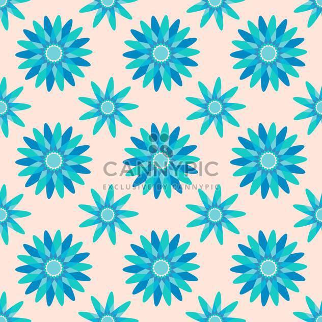 Nahtlose blaue Farbe Blümchenmuster Hintergrund - Kostenloses vector #127411