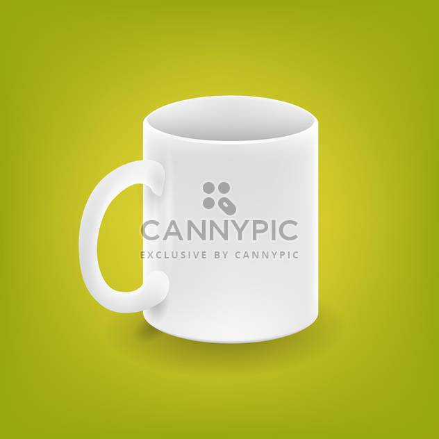 Realistic white cup on green background - Free vector #127531
