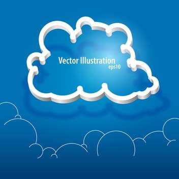 Vector cloud icon on blue background with text place - vector #127551 gratis