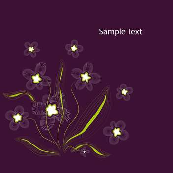 vector illustration of purple floral background - Free vector #127561