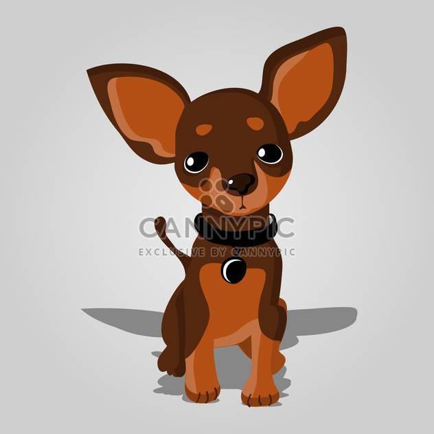 Vektor-Illustration der Hund hübsch auf grauen Hintergrund - Kostenloses vector #127611