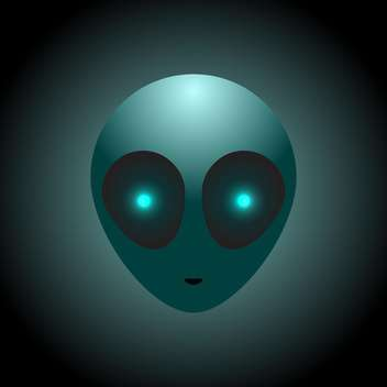 Vector alien head on dark background - vector gratuit #127671