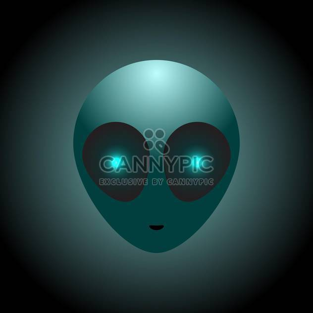 Vector alien head on dark background - Free vector #127671