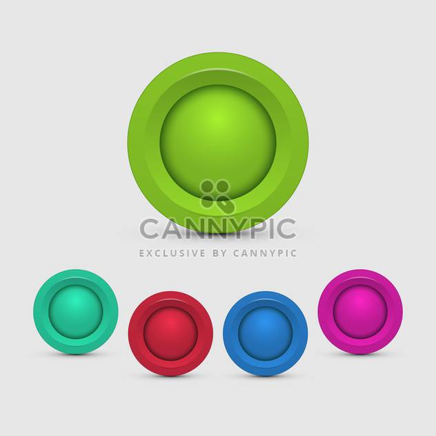 vector set of colorful buttons on white background - Free vector #127691