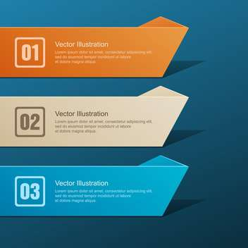 Vector set of colorful banners on blue background - Free vector #127771