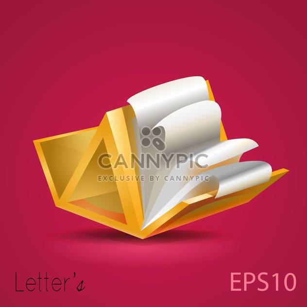 Ordner mit Geschäftsdokumente auf rosa Hintergrund - Kostenloses vector #127801