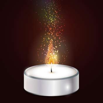 Vector illustration of candle on brown background - vector gratuit #127811