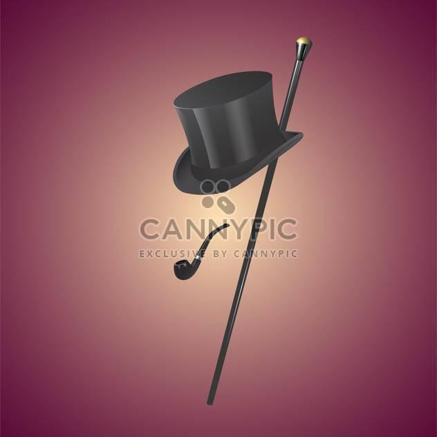 colorful illustration of vintage gentleman set - Free vector #127841