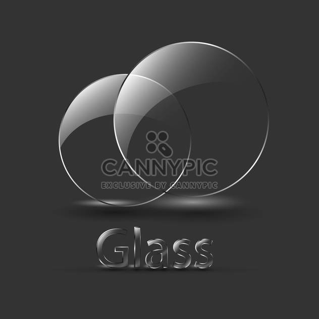 Black balls with signature glass - Free vector #127911
