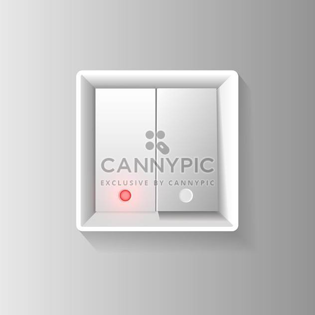 vector illustration of white switch on grey background - Free vector #127971