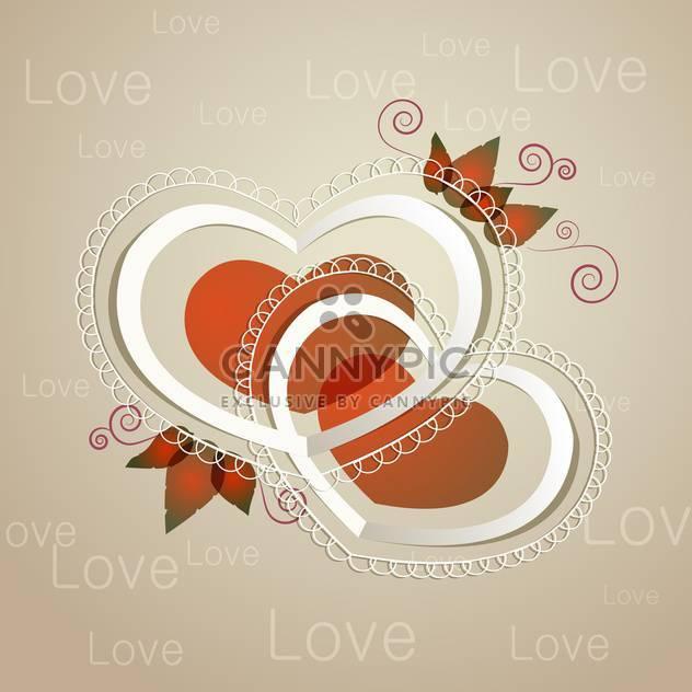 Vektor-Hintergrund mit floralen Herzen auf grauen Hintergrund - Free vector #127981